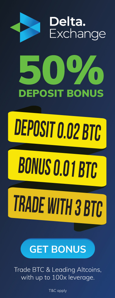 50% First Deposit Bonus Offer - Delta Exchange